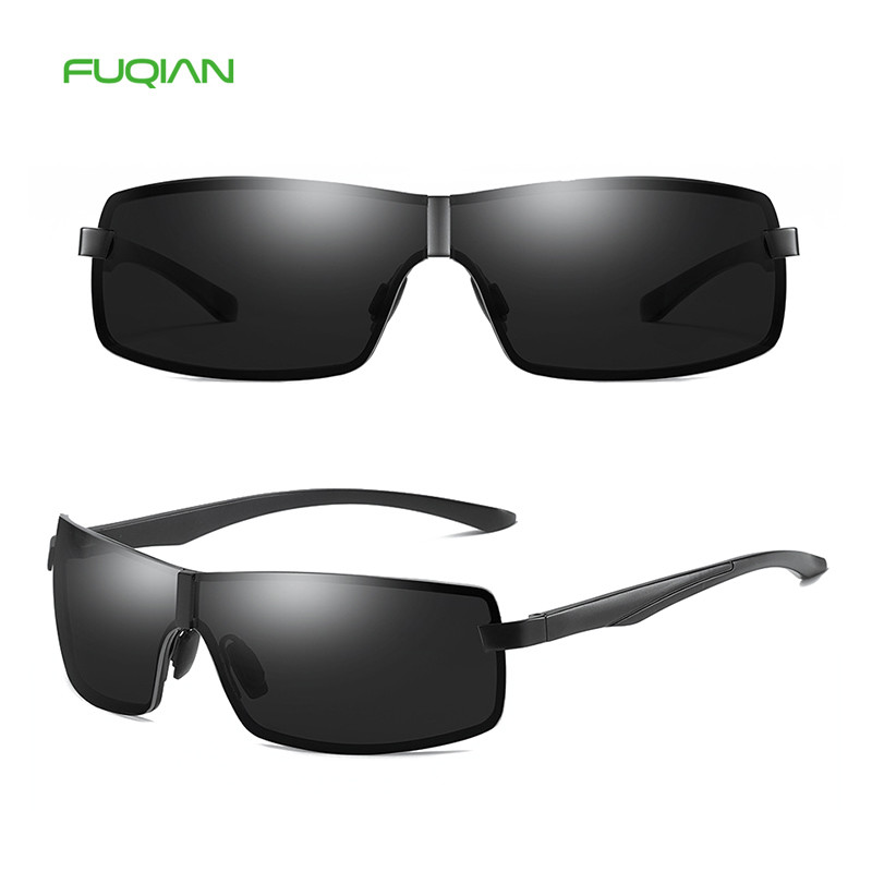 Luxury OEM Small Square Metal Frame TAC Men Polarized UV400 Sunglasses