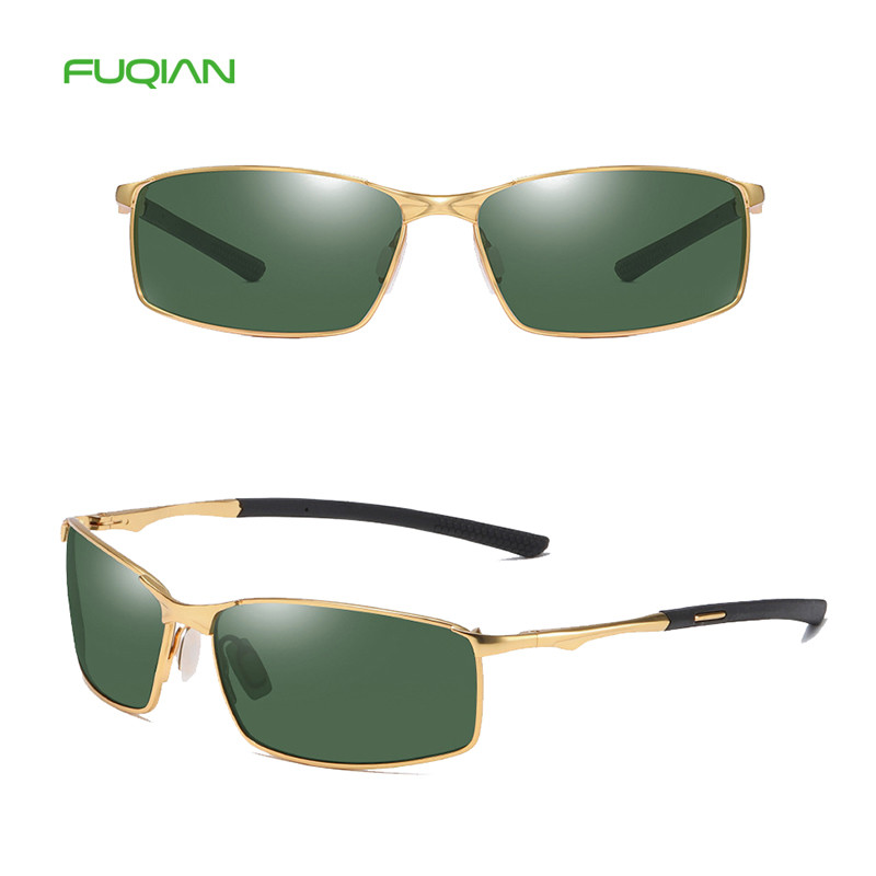 2019 New Arrival Metal Rectangle Frame Polarized Men Male Sunglasses