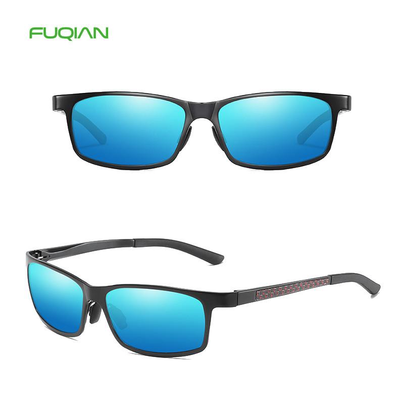 Cool Dazzle Small Metal Frame Polarized UV400 Square Men Sunglasses