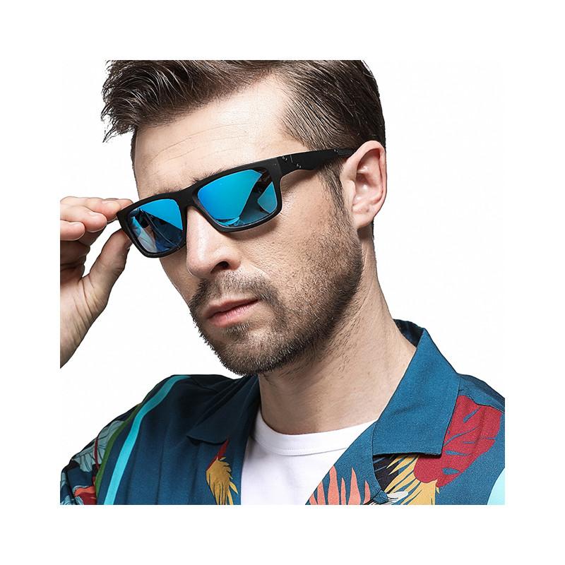 Fashion Plastic Material Square Frame Men Custom Logo Retro Sunglasses