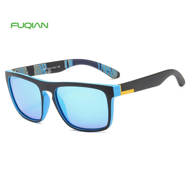Sports Sun Glass Cheap Colorful Custom Logo Square Men Polarized Sunglasses2019 Cheap Personality Frame Square Gentlemen Polarized Sunglasses