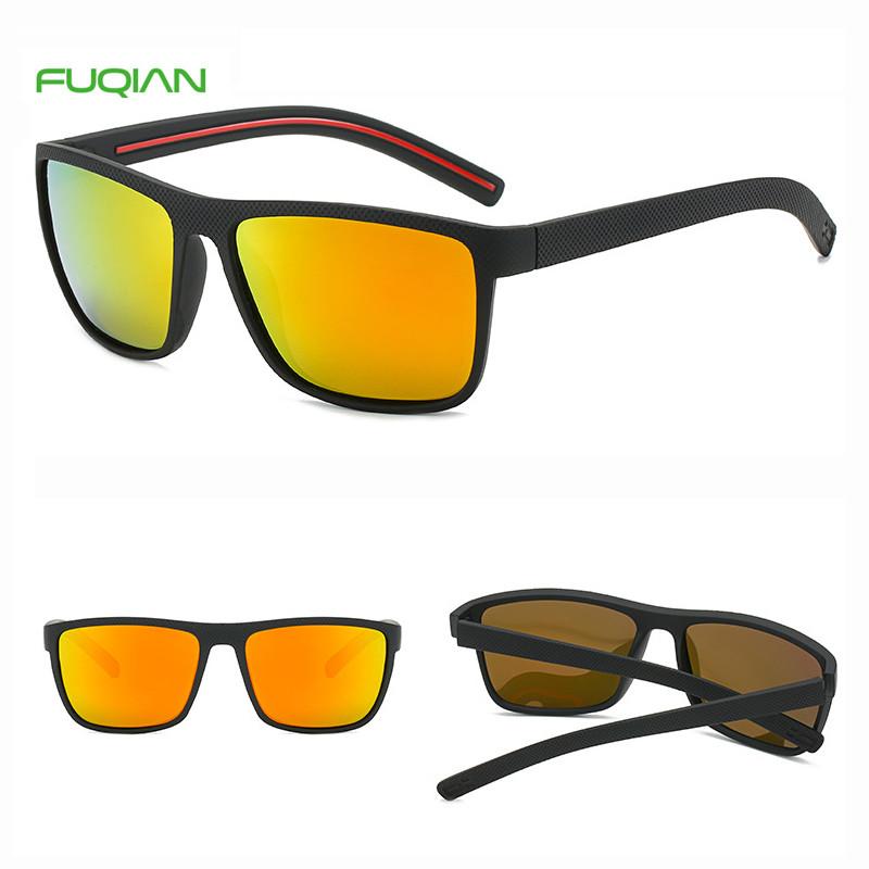 Cheap Lentes De Sol Cycling Driving Square Men Sports Sunglasses PolarizedSports Style Elastic Black comfortable Square Men Polarized Sunglasses