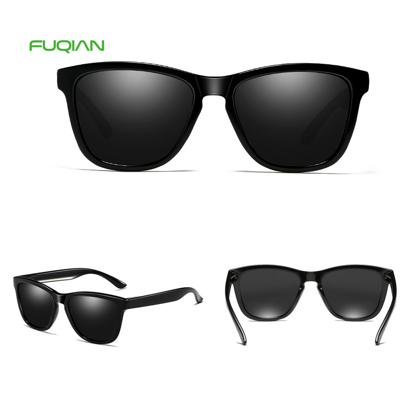 Handsome Style Custom Logo Printing Gradient Black Square Polarized Men SunglassesHandsome Style Custom Logo Printing Gradient Black Square Polarized Men Sunglasses