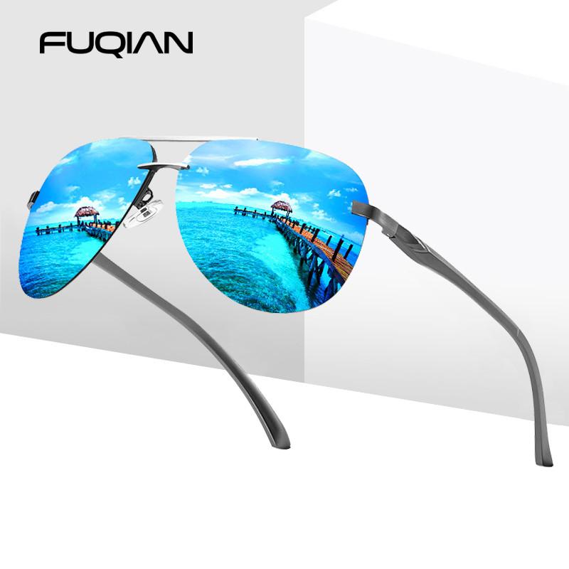 2020 New Arrivals Aluminum Magnesium Spring Hinge Men Luxcury Polarized Pilot Sunglasses