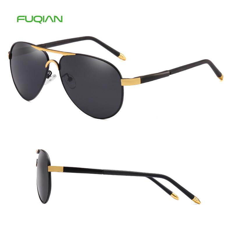 Fashion Polarized TAC Round Sport Driving Fishing Pilot Men Sunglasses