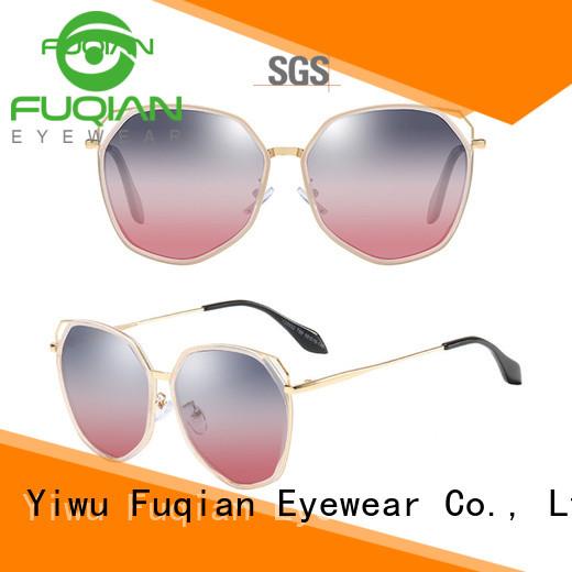 Fuqian mirrored sunglasses women buy now for women