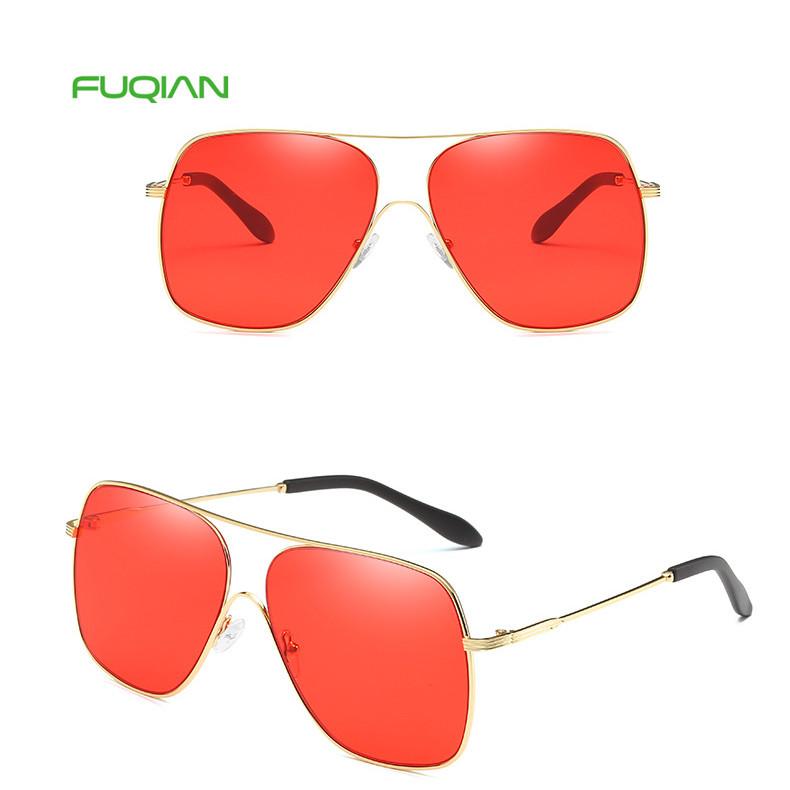 Promotion Men Square Big Frame Pilot Driving Mirror Shades Sunglasses