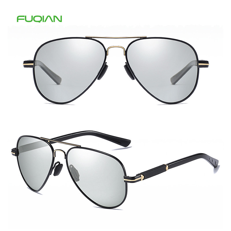 Retro China Manufacturers Polarized Round Pilot Men Custom Sunglasses