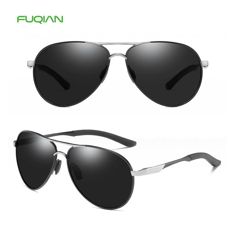 High Quality TAC Lens Metal Frame Pilot Polarized Men Retro Sunglasses