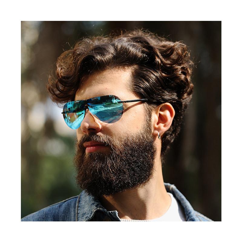 Fuqian Fashion TAC Foldable Designer Polarized UV400 Pilot Men Eyewear