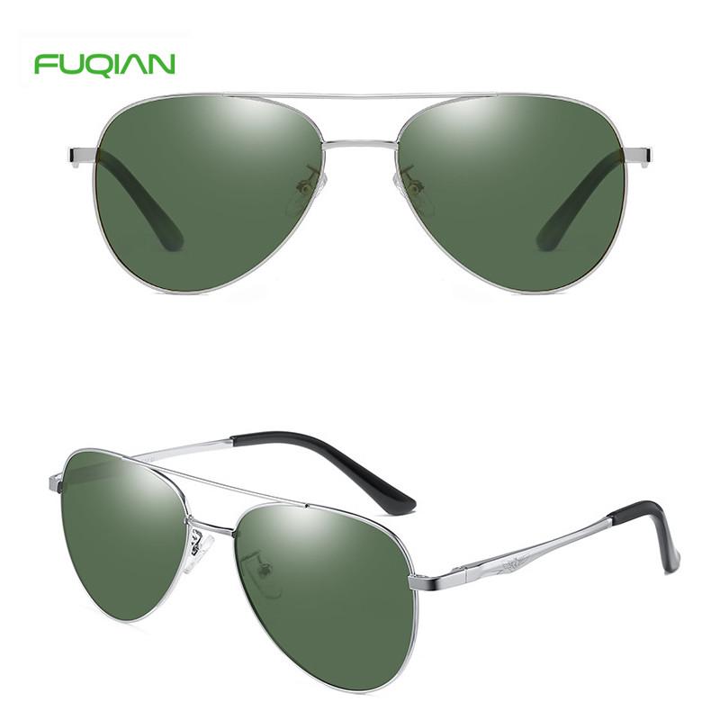 Caixa Para Oculos 2020 New Fashion Mirror Men Pilot Sunglasses PolarizedHandsome Toad Mirror Custom Logo Print Polit Men Polarized Eyewear