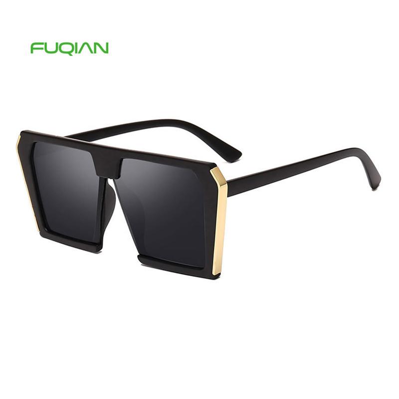 High Quality Brand Designer OversizedWomen Square Big Frame Sunglasses