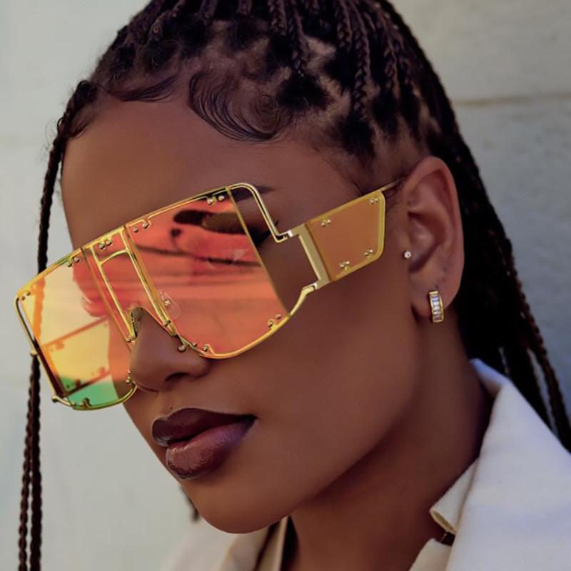 2019 steampunk fashion glasses women metal oversized sunglasses2019 steampunk fashion glasses women metal oversized sunglasses