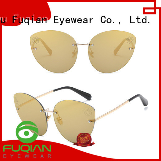 Fuqian women aviator style sunglasses for business for lady