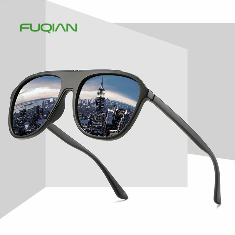 New arrival fashion TR90 two color Polarized glasses outdoor men driving women Sunglasses