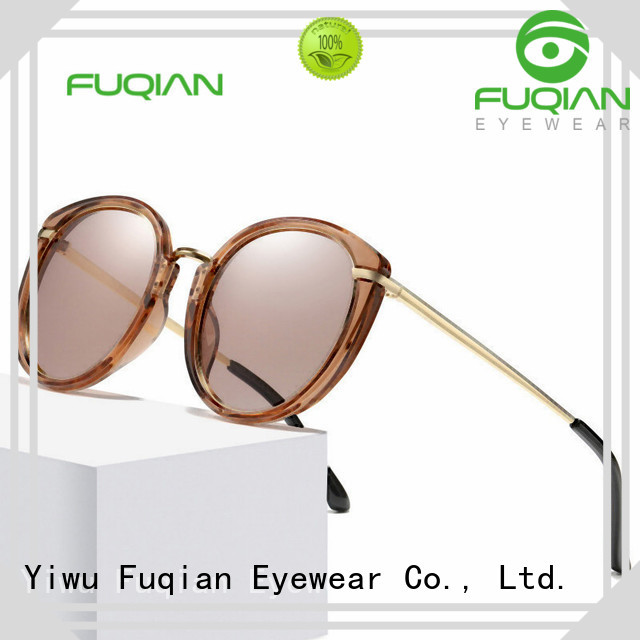 Fuqian High-quality gold rim sunglasses for womens buy now for women