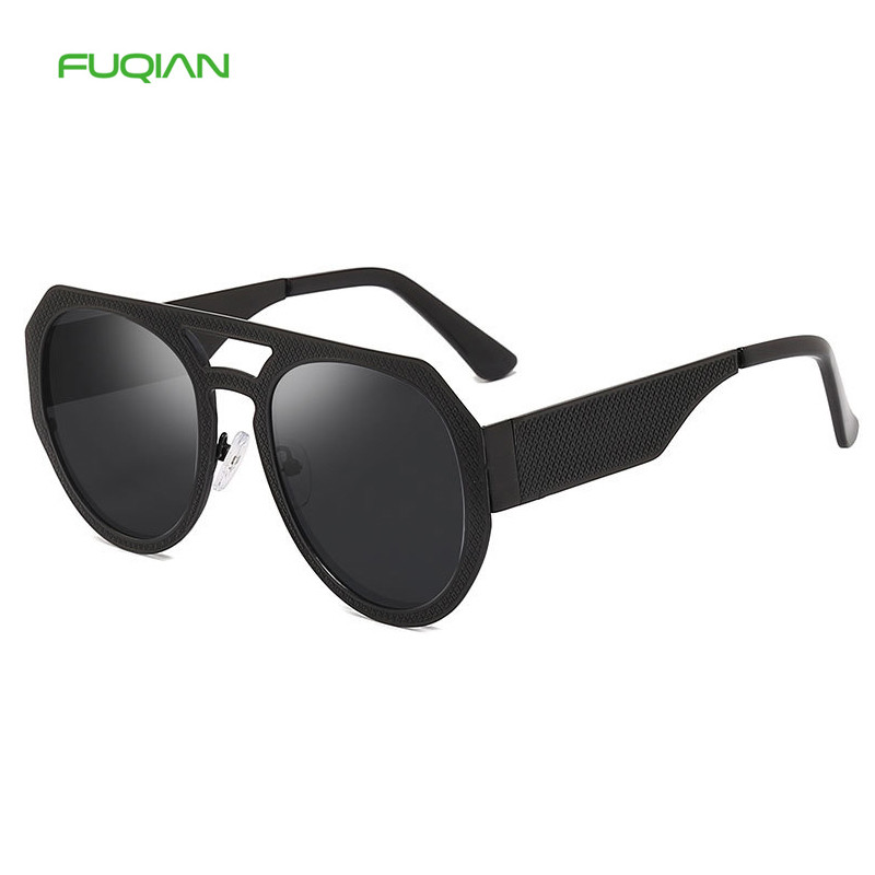 Designer Eyewear Cat3 UV400 Double Bridge Women Men Round Sunglasses