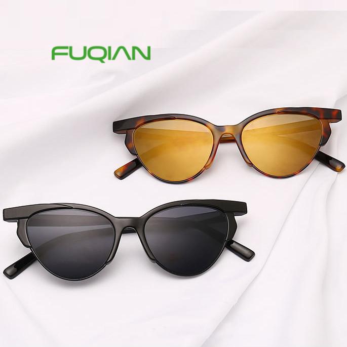 2019 Brand designer cat eye glasses sunglasses cheap custom women Sunglasses
