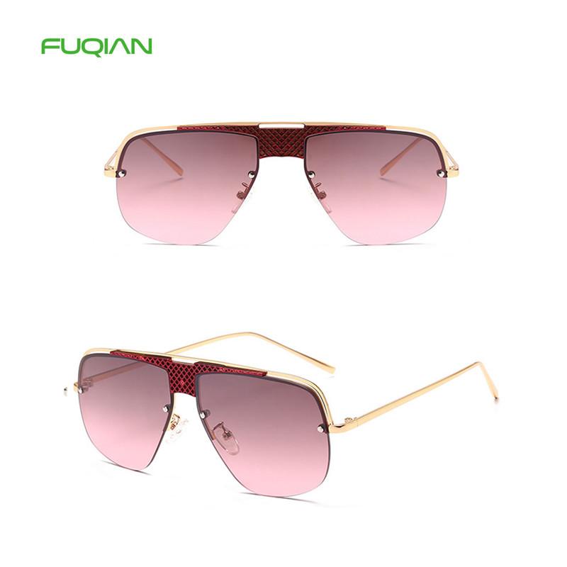 2019 fashion big frame gradient one-piece lens men women unisex sunglasses