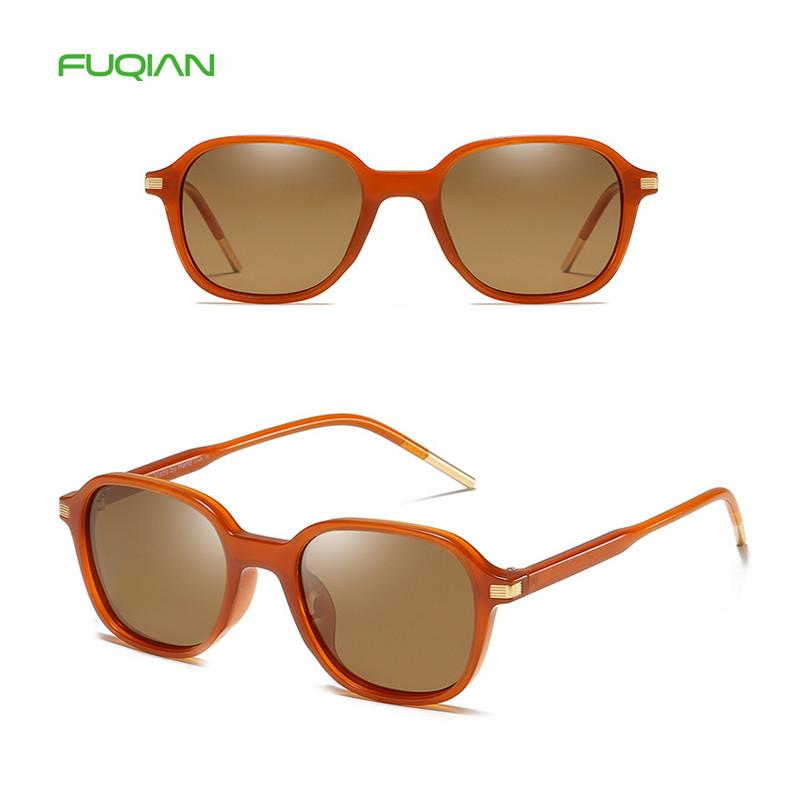 Classic female unisex plastic frame polarized square women sunglasses 2019