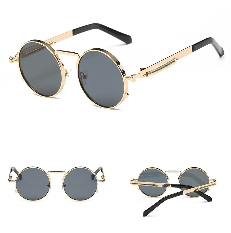 2019 most popular punk classic vintage polarized round men women sunglasses