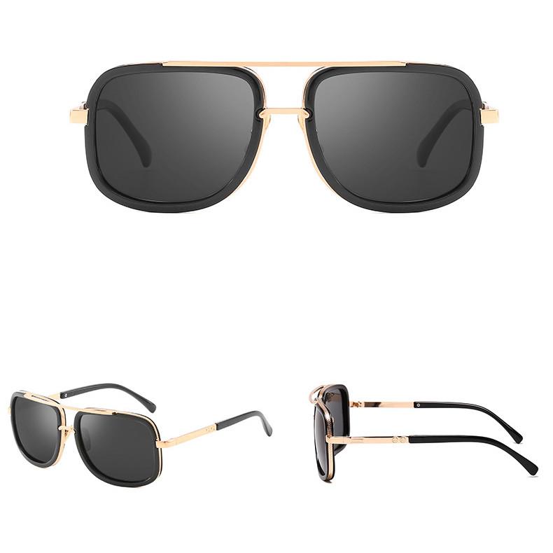 2019 Polarized Square Shades Mirror TAC Metal Plastic Women Sunglasses