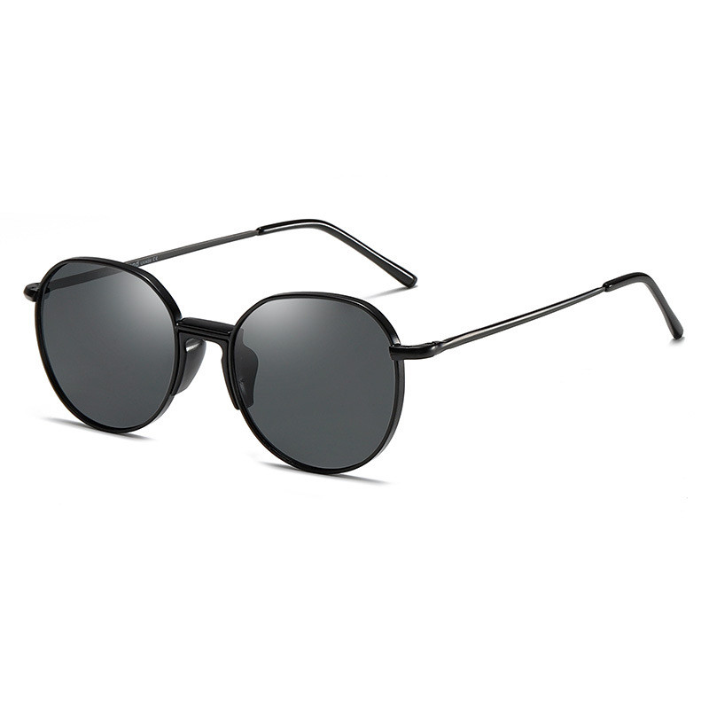 Hot 2019 OEM Fashion Women Round Frame Polarized Men Custom Sunglasses