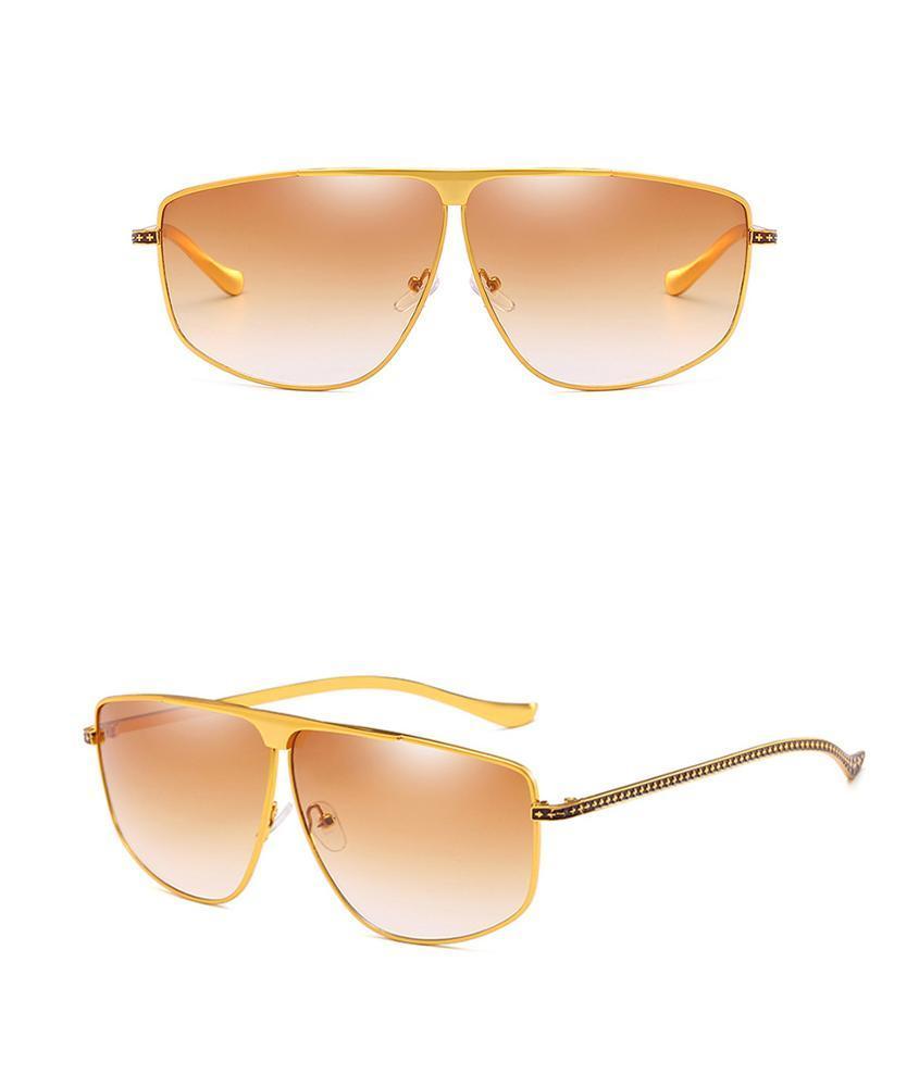 Promotional Flat Top Women Square Gradual Colorful Men UV400 Sunglasses