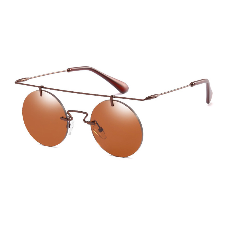 High Quality Designer Frame Metal 2019 Women Mirror Round Men Eyewear