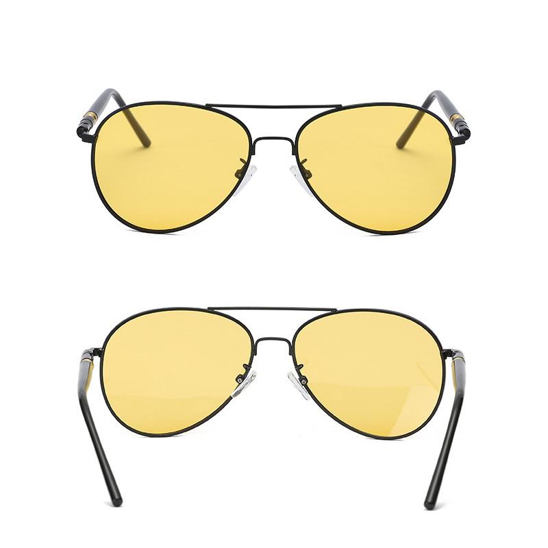 2019 Fashion Men Night Vision Polarized Round Frame Women Sunglasses