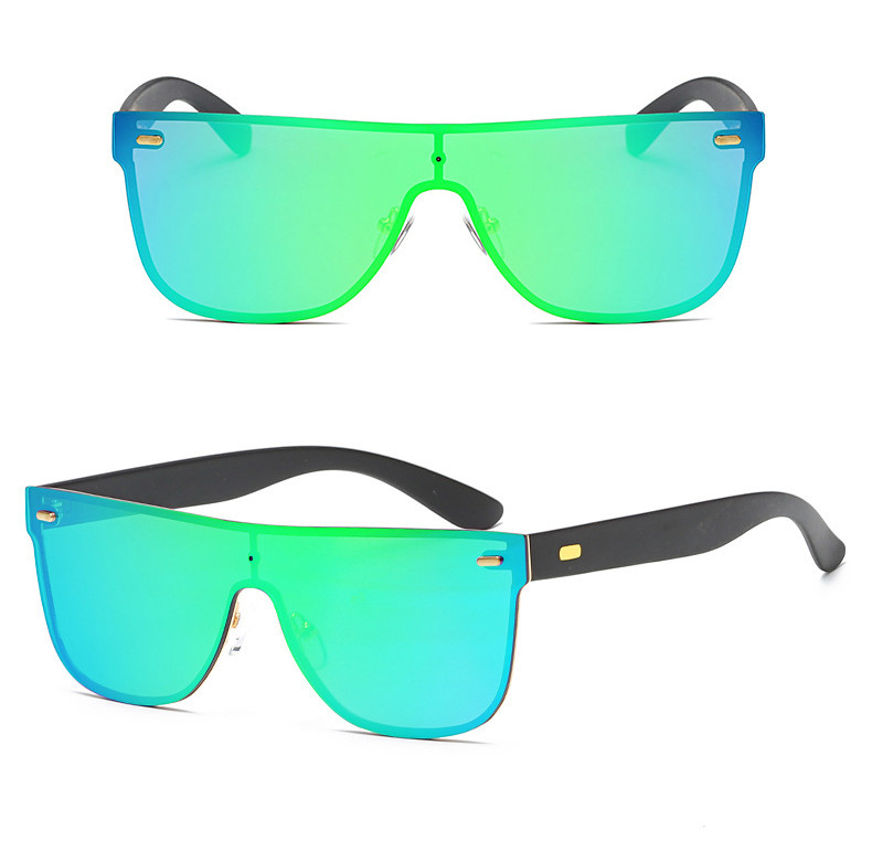 2019 Flat Top Gradient Colorful Square Frame Men PC Fashion Sunglasses
