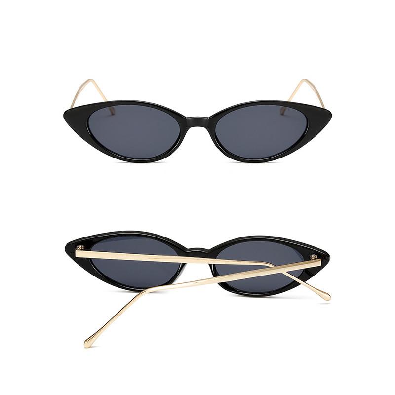 Wholesale Cat Eye Metal Frame Triangle Women Mirror Shades sunglasses