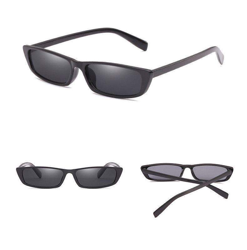 Cool Dazzle Small Square Plastic Frame Women UV400 Party Men Eyewear