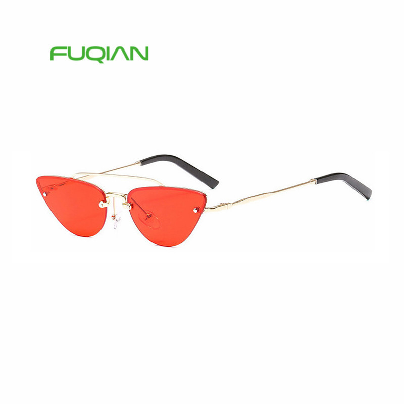 Newpersonality cat eyes small box manufacturers wholesale metal up to people sunglasses