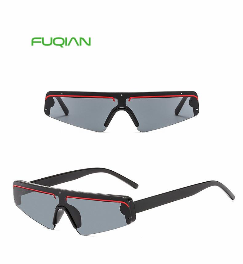 New trend triangle frame fashion marine Mirror film sunglasses wholesale De Sol Gafas