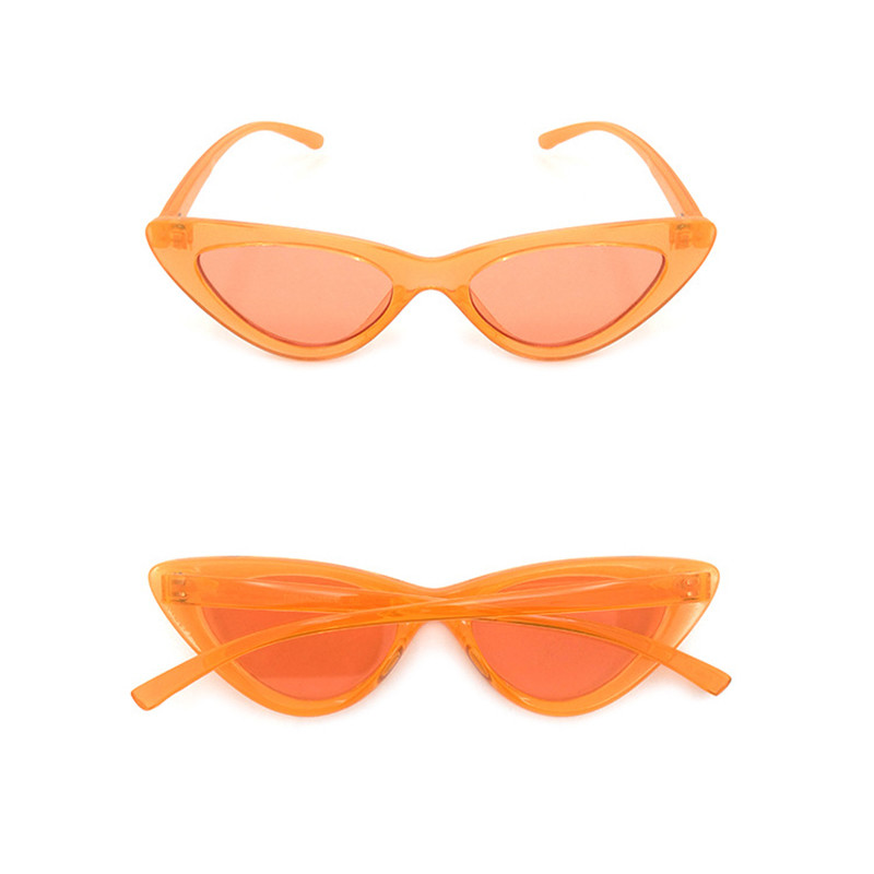 Fashion Cat Eye UV400 Plastic Frame Ladies Male Candy Colored Eyewear