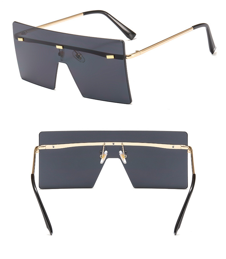Fashion Oversized Big Frame Gradient Women Men Retro Shades Sunglasses
