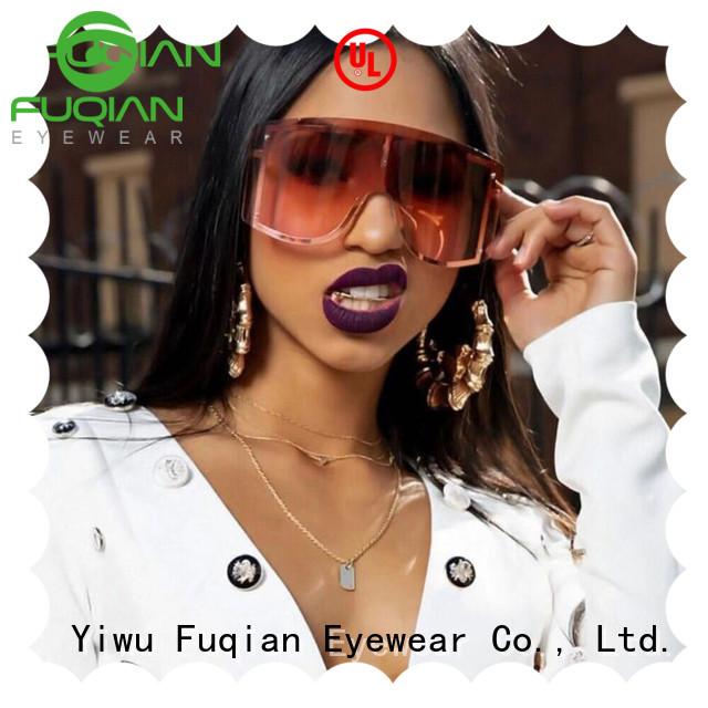 Fuqian Wholesale gold rim sunglasses for womens customized for women