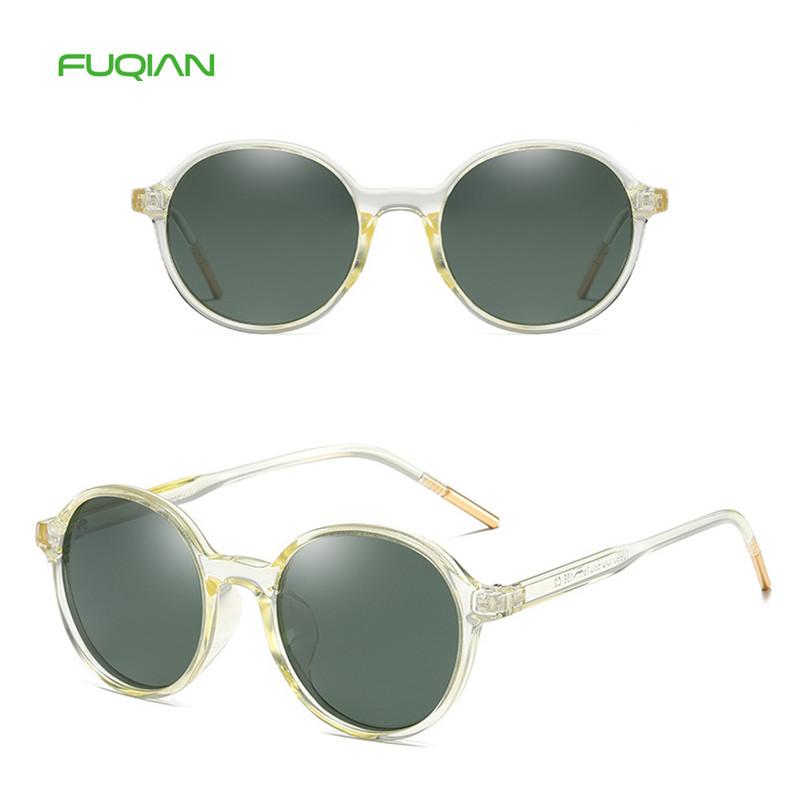 Trendy PC Material Oval Frame Women TAC Polarized Men Retro Sunglasses