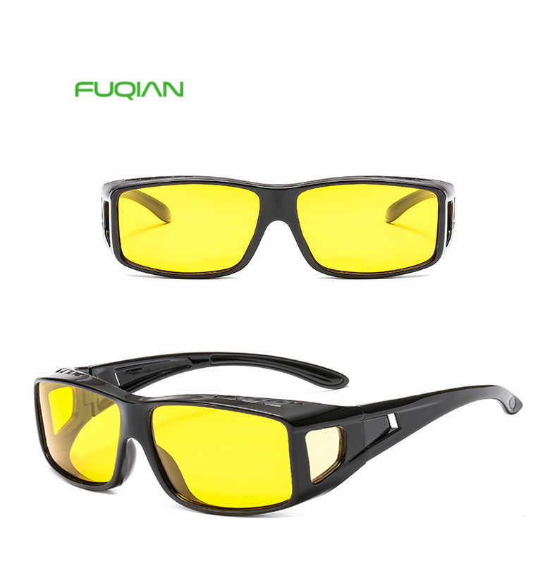 Dust-proof driving Night Vision Glasses driver Polarized Windproof Sunglasses Mirror yellow Goggles