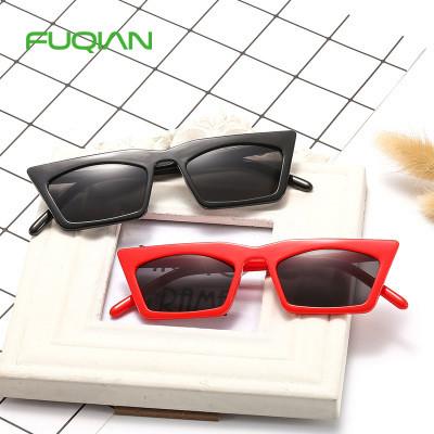 Leopard Cat Eye Square Sunglasses Women Men Black Triangle Vintage Cheap Sun Glasses