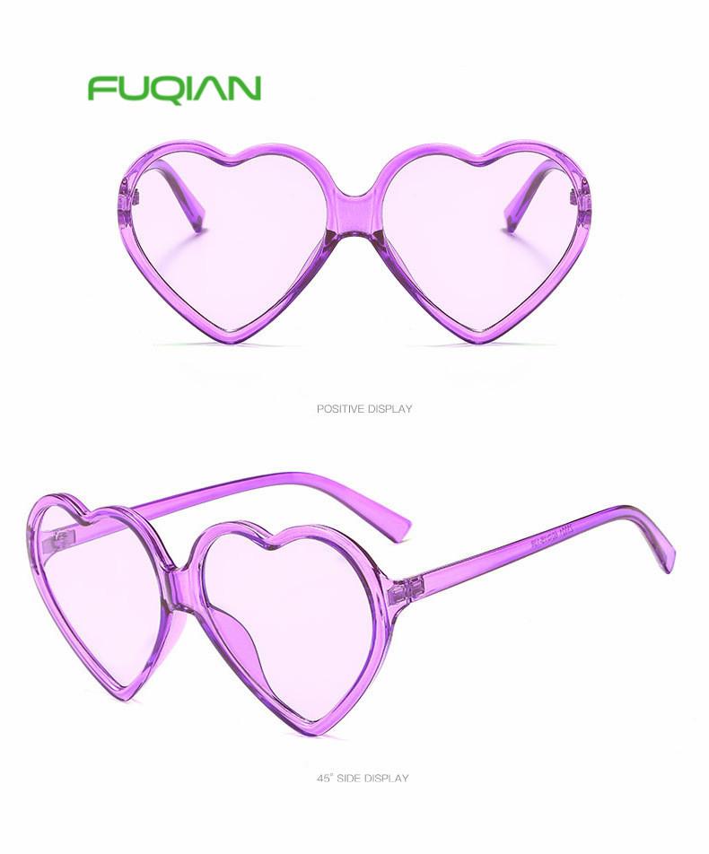 Top selling Heart Shape UV400 Polarized Sunglasses for Women Men
