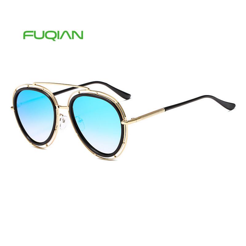 New Fashion Mirror Cutout Sunglasses Trend Retro Male Lady Shade Sun Glasses