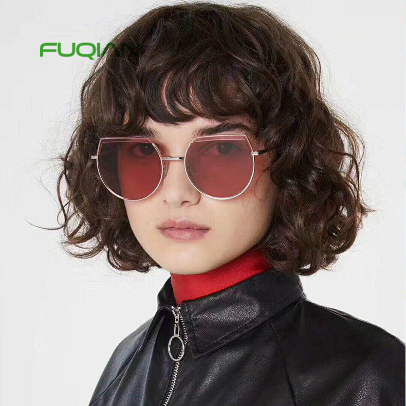 Fashion Brand Designer Sunglasses Trendy Men Eyeglasses Custom Women Oversized Sunglasses