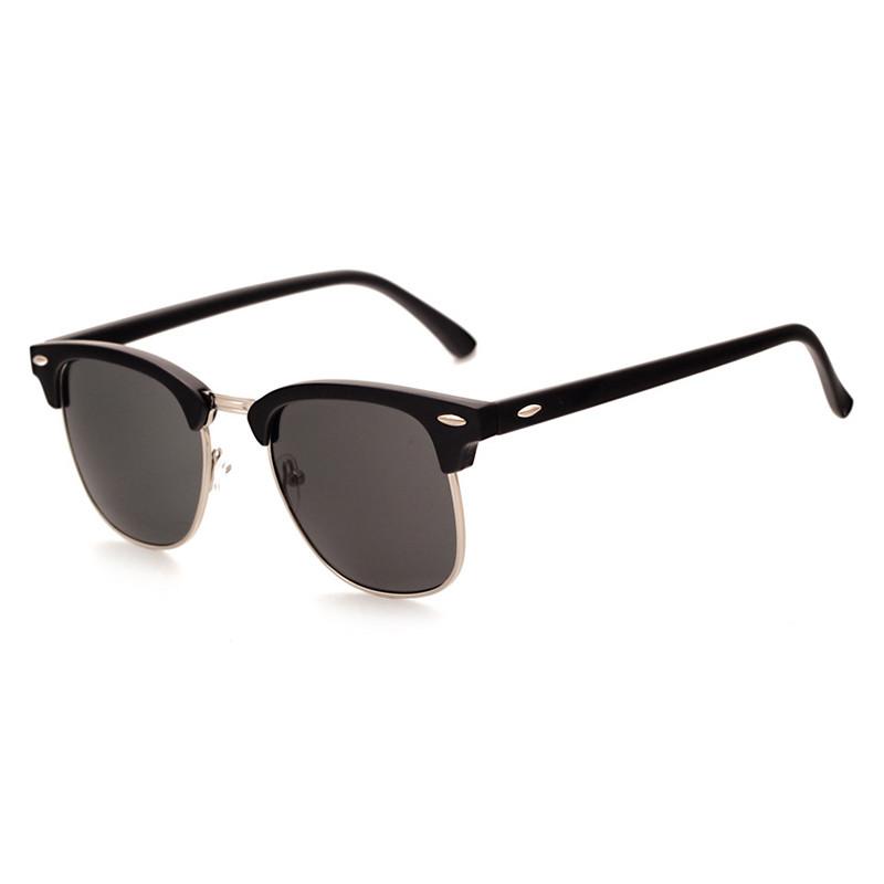 2019 Fashion Gradient Colorful Semi Frame UV400 Women Men Sunglasses