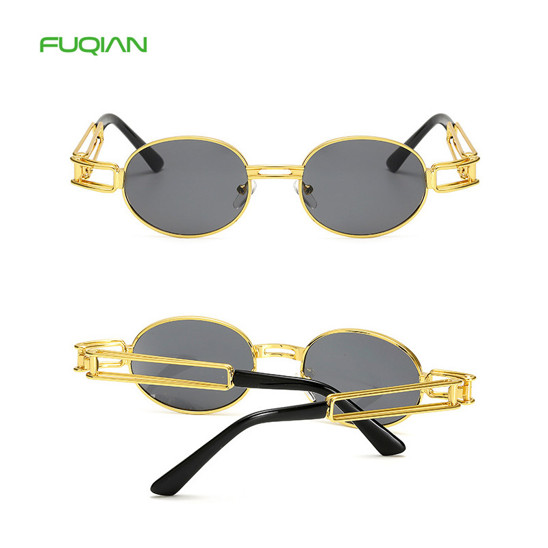 Fashion Plastic Round Frame Brand Designer Women Men Retro Sunglasses