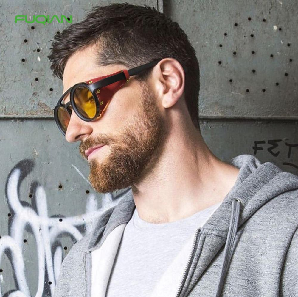 High Quality Round PC Frame Steampunk Rivet Women Men Retro Sunglasses