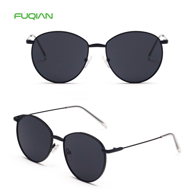 Hot selling 2019 Clear RoundMetal Frame UV400 Men Woen SunglassesHot selling 2019 Clear Round  Metal Frame UV400 Men Woen Sunglasses