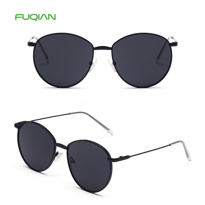 Hot selling 2019 Clear RoundMetal Frame UV400 Men Woen SunglassesHot selling 2019 Clear Round Metal Frame UV400 Men Woen Sunglasses