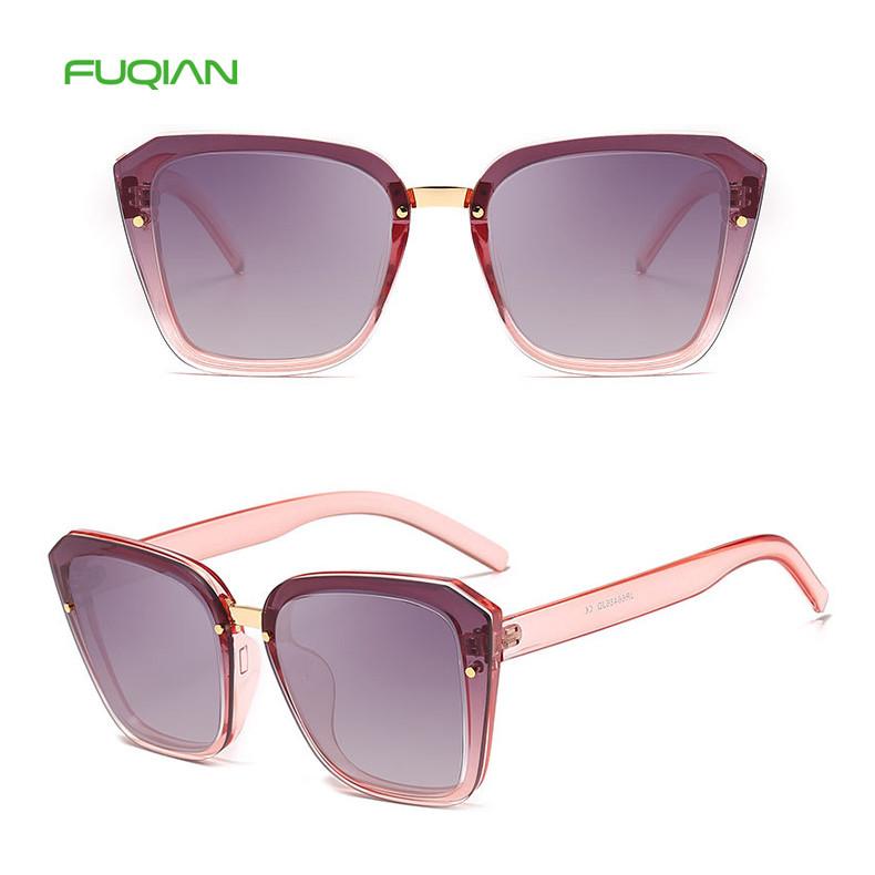 Retro Square Big Frame Plastic Unisex Custom Logo Women Men Sunglasses